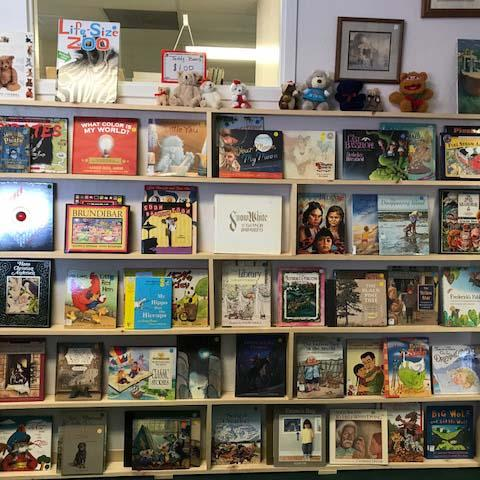 Image: Children's books at the community bookstore