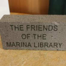 Image: Example of an engraved brick